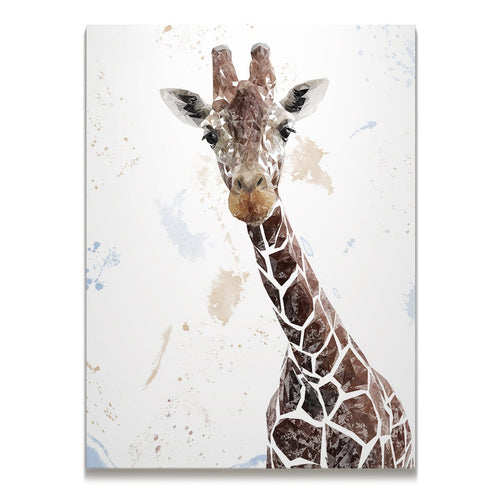 """George"" The Giraffe Skinny Canvas Print"