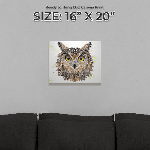 """Brown Owl"" Small Canvas Print"