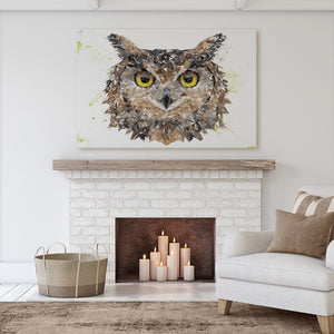 """Brown Owl"" Canvas Print - Andy Thomas Artworks"