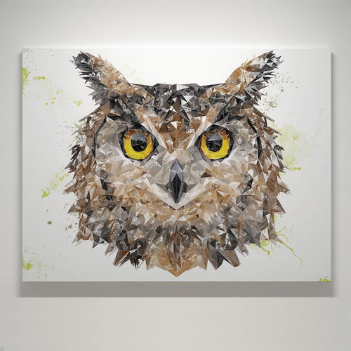 """Brown Owl"" Large Canvas Print"