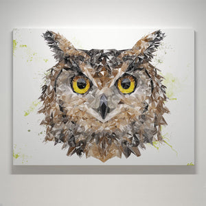 """Brown Owl"" Small Canvas Print - Andy Thomas Artworks"