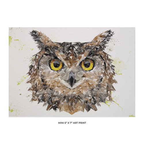 """Brown Owl"" 5x7 Mini Print"