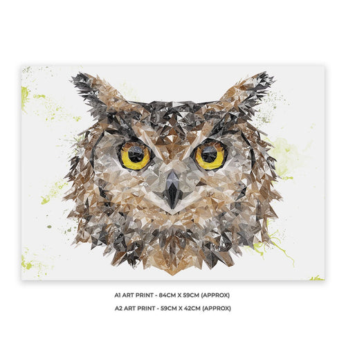 """Brown Owl"" A1 Unframed Art Print"