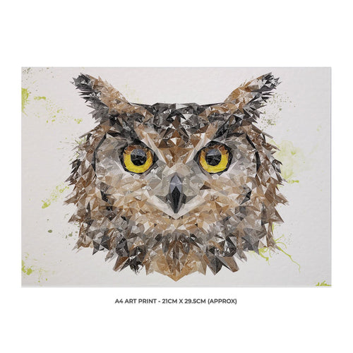 """Brown Owl"" A4 Unframed Art Print"