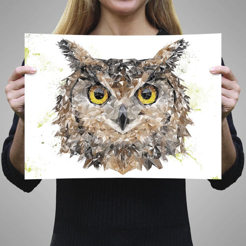 """Brown Owl"" A3 Unframed Art Print"