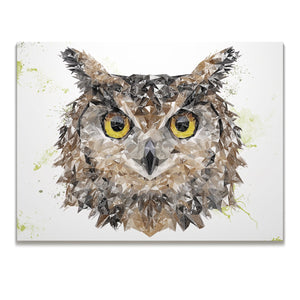 """Brown Owl"" Skinny Canvas Print - Andy Thomas Artworks"