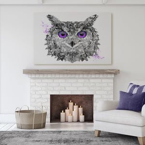 """The Purple Owl"" Canvas Print - Andy Thomas Artworks"
