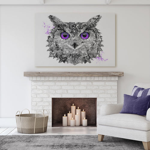 """The Purple Owl"" Massive Canvas Print"