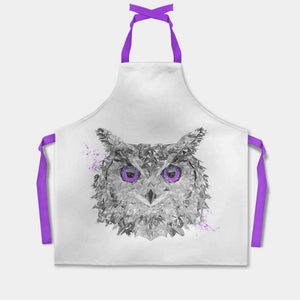 """The Purple Owl"" Apron - Andy Thomas Artworks"
