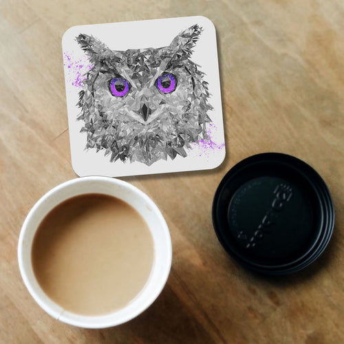 """The Purple Owl"" Coaster"