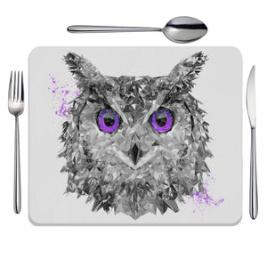 """The Purple Owl"" Placemat - Andy Thomas Artworks"
