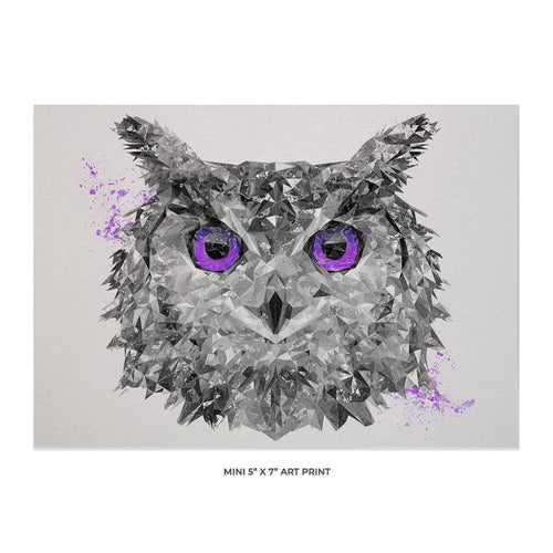 """The Purple Owl"" 5x7 Mini Print"