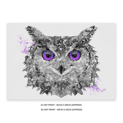 """The Purple Owl"" Unframed Art Print"