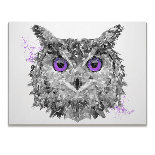 """The Purple Owl"" Skinny Canvas Print"