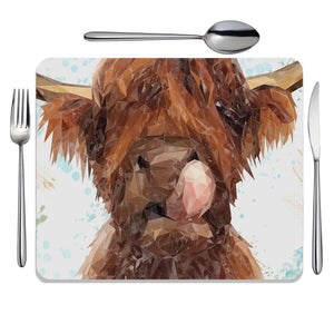 """Harry"" The Highland Cow Placemat - Andy Thomas Artworks"