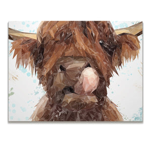 """Harry"" The Highland Cow Skinny Canvas Print - Andy Thomas Artworks"