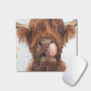 """Harry"" The Highland Cow Mousemat - Andy Thomas Artworks"