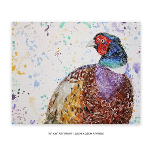 """Marty"" The Pheasant 10"" x 8"" Unframed Art Print - Andy Thomas Artworks"