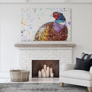 """Marty"" The Pheasant Canvas Print - Andy Thomas Artworks"