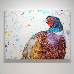 """Marty"" The Pheasant Small Canvas Print - Andy Thomas Artworks"