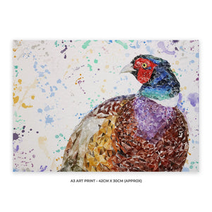 """Marty"" The Pheasant A3 Unframed Art Print - Andy Thomas Artworks"