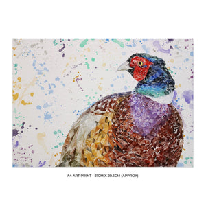 """Marty"" The Pheasant A4 Unframed Art Print - Andy Thomas Artworks"