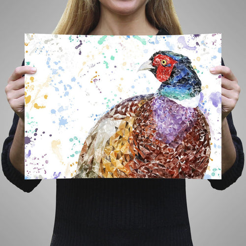 """Marty"" The Pheasant Unframed Art Print"