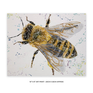 """The Honey Bee"" 10"" x 8"" Unframed Art Print - Andy Thomas Artworks"