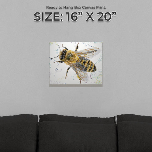 """The Honey Bee"" Small Canvas Print"