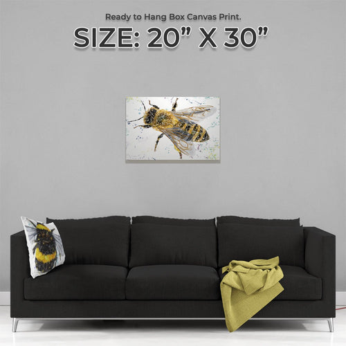 """The Honey Bee"" Medium Canvas Print"