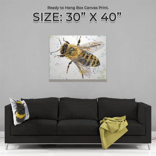 """The Honey Bee"" Large Canvas Print"
