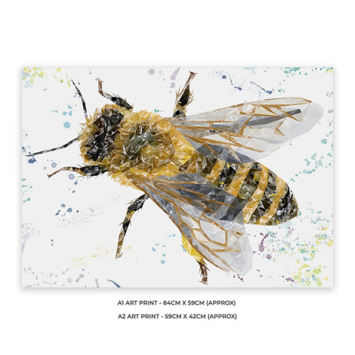 """The Honey Bee"" Unframed Art Print"