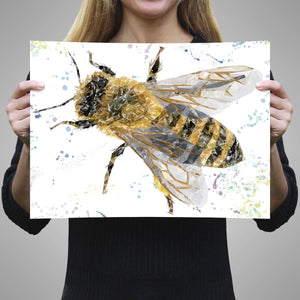"""The Honey Bee"" A2 Unframed Art Print - Andy Thomas Artworks"