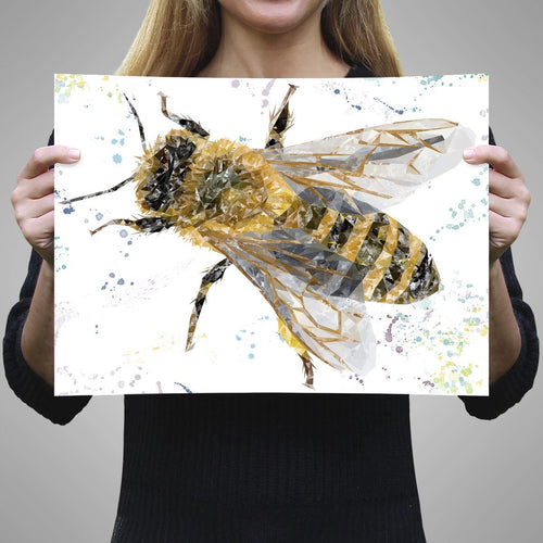 """The Honey Bee"" A1 Unframed Art Print"