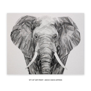 """Ernest"" The Elephant 10"" x 8"" Unframed Art Print - Andy Thomas Artworks"