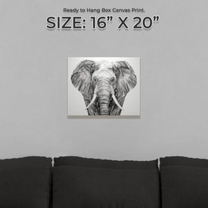 """Ernest"" The Elephant Small Canvas Print - Andy Thomas Artworks"