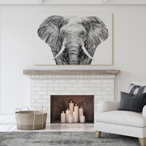 """Ernest"" The Elephant Canvas Print - Andy Thomas Artworks"