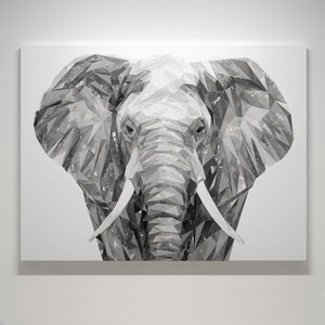 """Ernest"" The Elephant Large Canvas Print - Andy Thomas Artworks"
