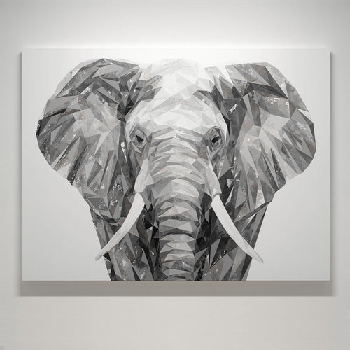 """Ernest"" The Elephant Small Canvas Print"