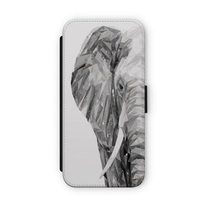 """Ernest"" The Elephant Flip Phone Case - Andy Thomas Artworks"
