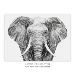 """Ernest"" The Elephant A2 Unframed Art Print - Andy Thomas Artworks"