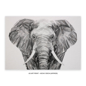 """Ernest"" The Elephant A3 Unframed Art Print - Andy Thomas Artworks"