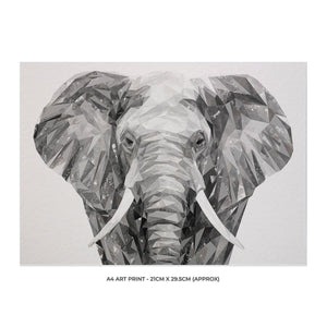 """Ernest"" The Elephant A4 Unframed Art Print - Andy Thomas Artworks"
