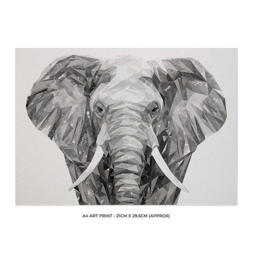 """Ernest"" The Elephant A4 Unframed Art Print"