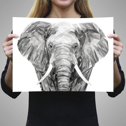 """Ernest"" The Elephant A1 Unframed Art Print"