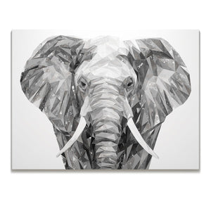 """Ernest"" The Elephant Skinny Canvas Print - Andy Thomas Artworks"