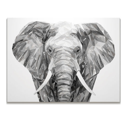 """Ernest"" The Elephant Skinny Canvas Print"