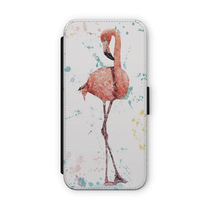 """The Colourful Flamingo"" Flip Phone Case - Andy Thomas Artworks"