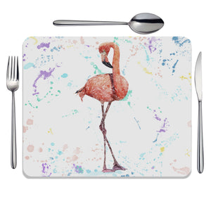 """The Colourful Flamingo"" Placemat - Andy Thomas Artworks"