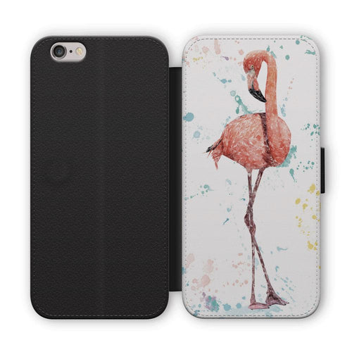 """The Colourful Flamingo"" Flip Phone Case"
